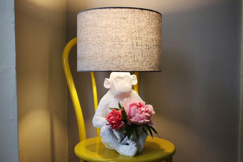 CB2 Monkey Lamp by A Beautiful Mess