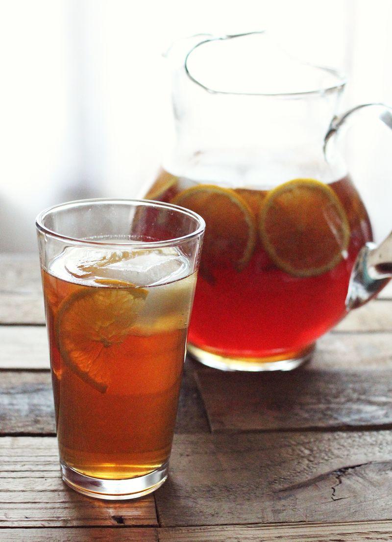Citrus and honey sweet tea