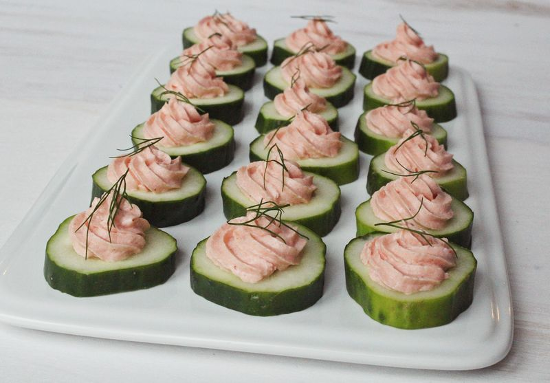 Easy appetizer salmon mousse a beautiful mess for Simple canape appetizer