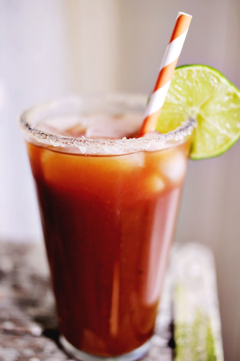 Sriracha Bloody Mary! SO spicy & delicious! www.abeautifulmess.com