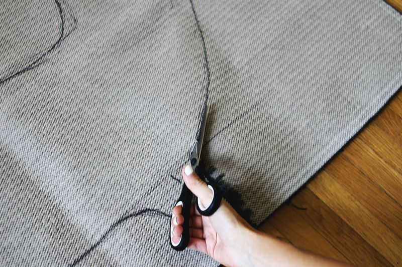 Make your own rug in ANY shape! 2