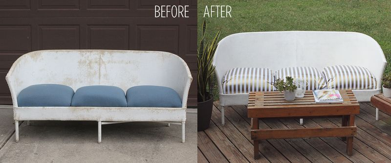 Restyled outdoor couch