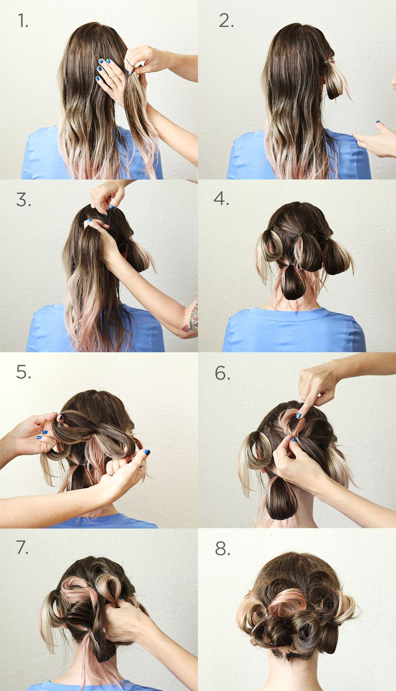 Loopy Hair Steps