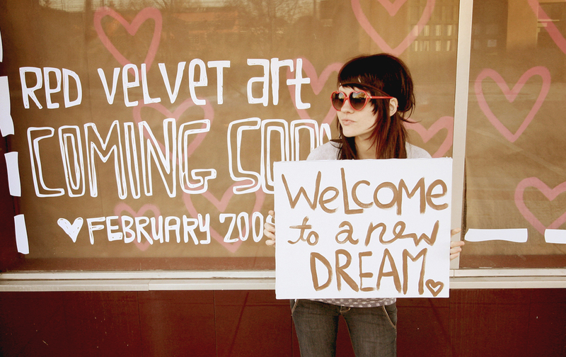 2008- We announced the opening of Red Velvet Art