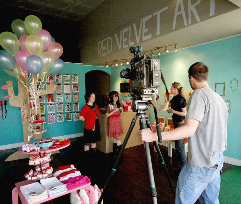 February 2009 on the local news for our store opening