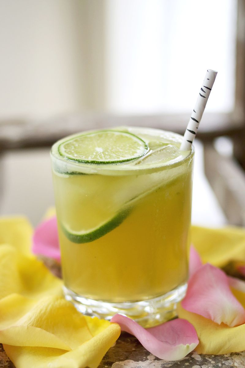 The Apple Flower Cocktail www.abeautifulmess.com