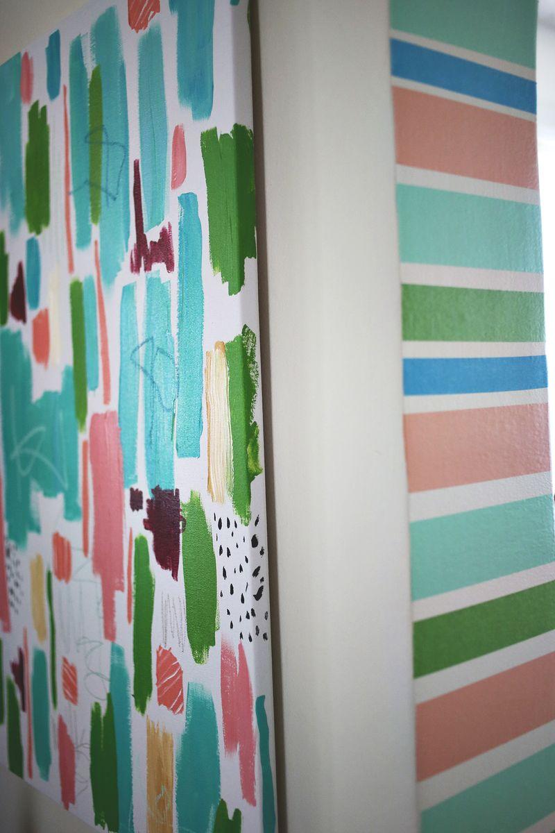 Washi Tape Stripe Doorway DIY