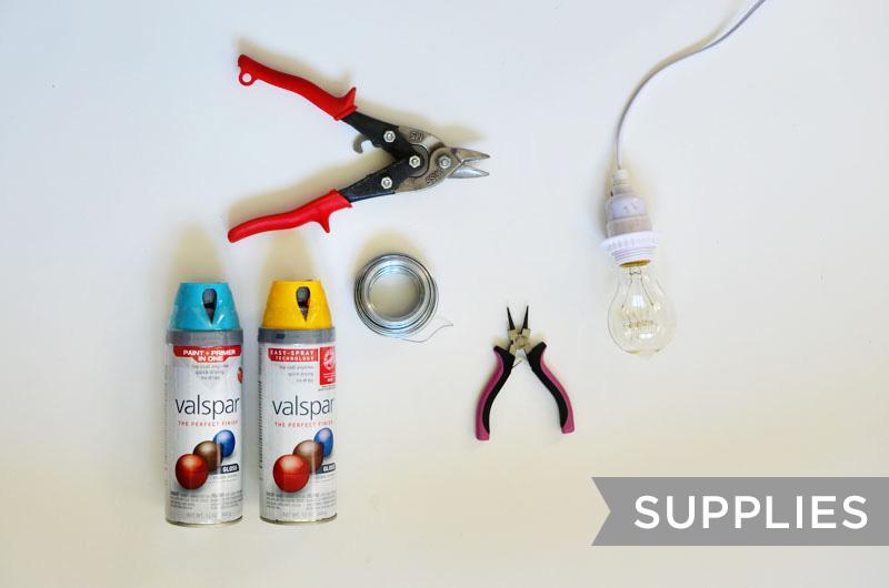 Halo Light Pendant DIY (supplies) & Halo Light Pendant DIY - A Beautiful Mess