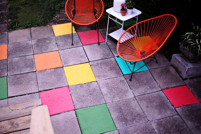 Painted Tile Patiou2026 An Easy, Fun Update! Www.abeautifulmess.com