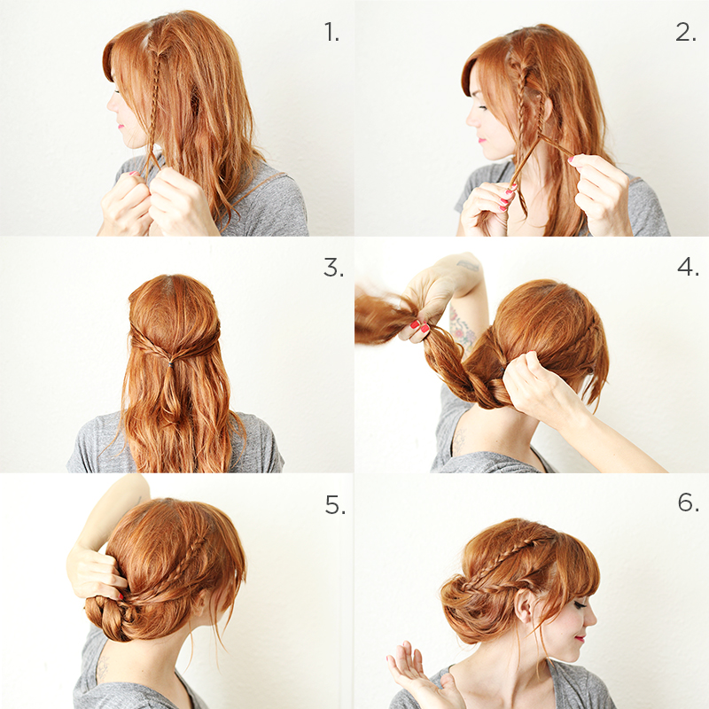 how to style a braided chignon a beautiful mess. Black Bedroom Furniture Sets. Home Design Ideas