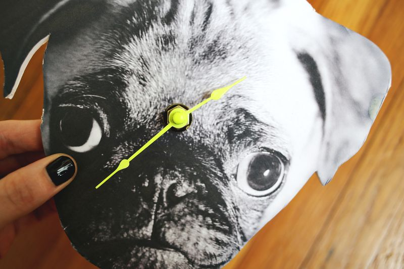 DIY Photo Wall Clock! www.abeautifulmess.com 6