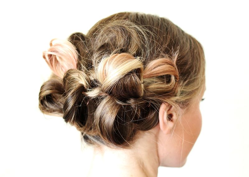 Adorable loopy hairstyle