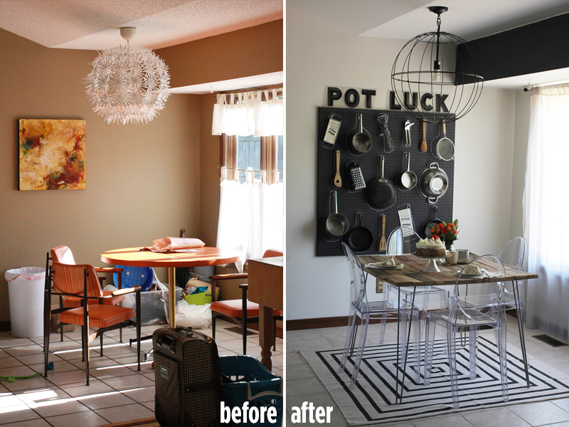 A Beautiful Mess Dining Room Before And After