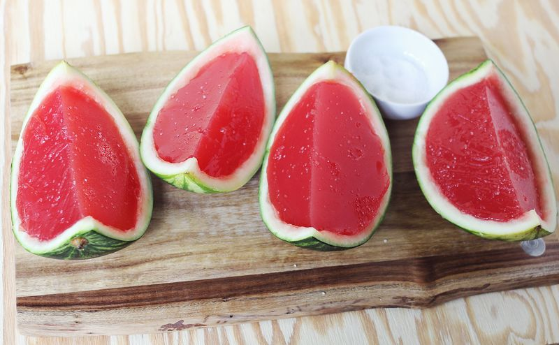 Fresh watermelon jello