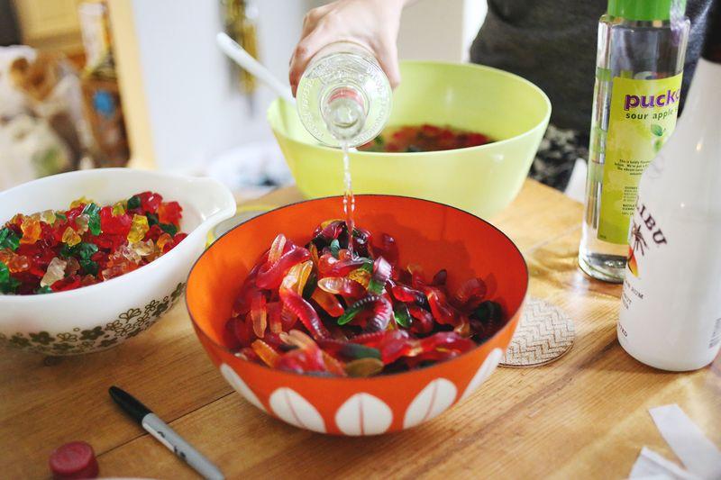 Making boozy gummy bears! It's so easy!