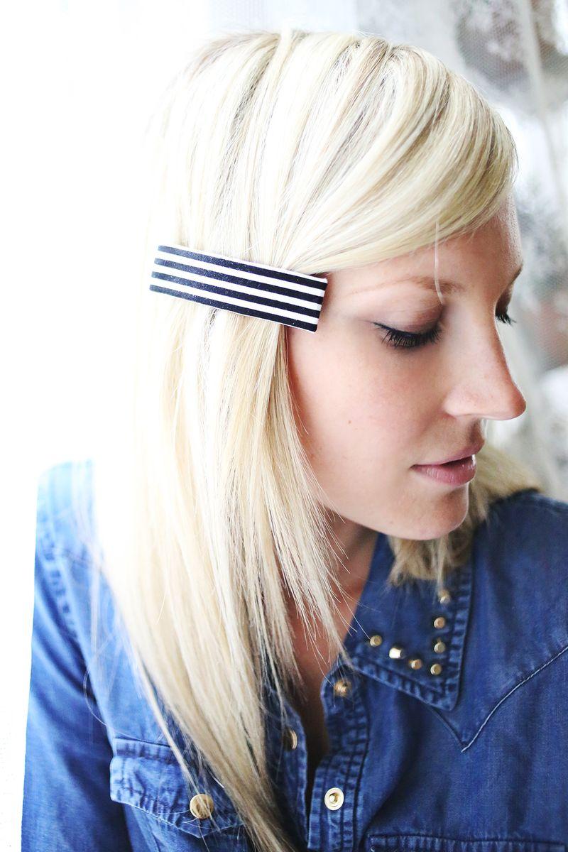 Let's Make Hair Clips! www.abeautifulmess.com