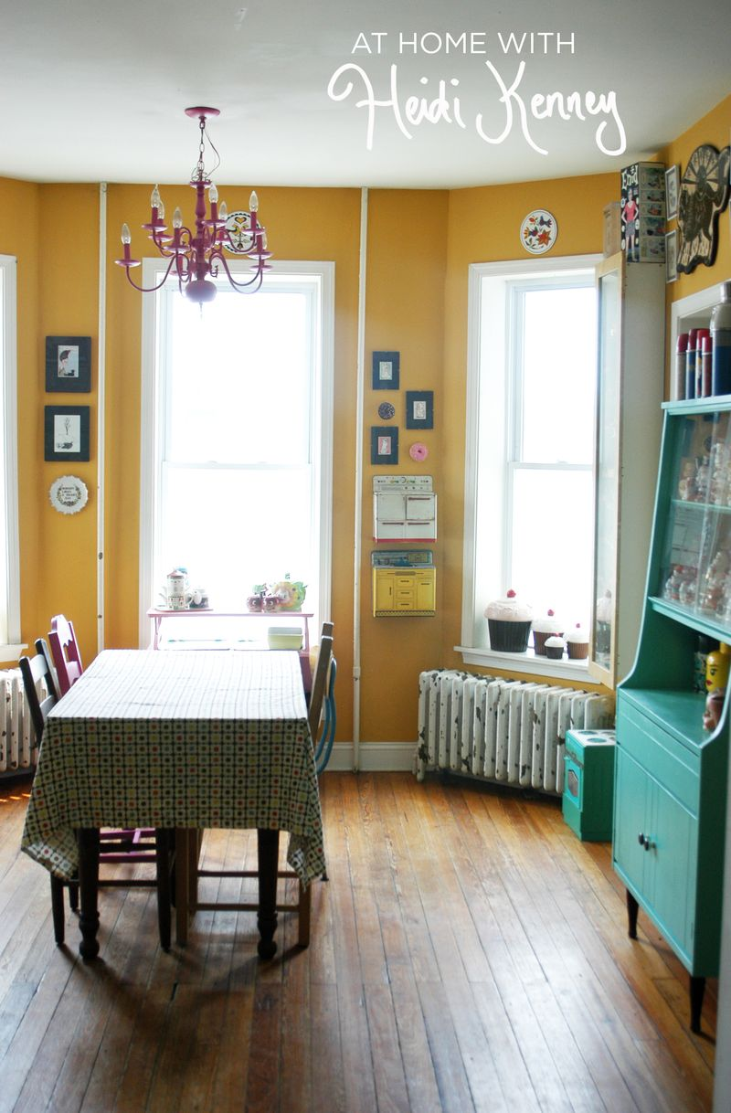 Nice At Home With Heidi Kenney A Beautiful Mess. Yellow Leather Dining Chairs Yellow  Dining Room Chairs Mustard ...