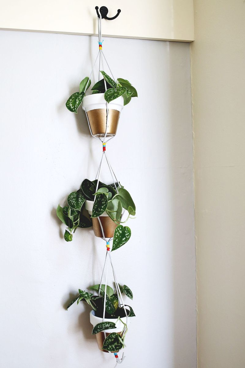 Design Hanging Planters gold dipped hanging planters a beautiful mess www abeautifulmess com