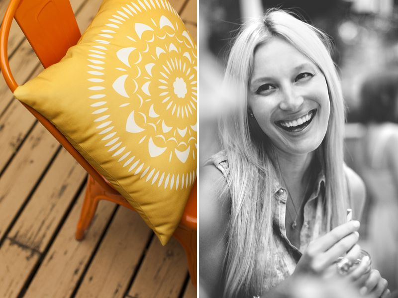 A Colorful Summertime Back Porch Party www.abeautifulmess.com 4