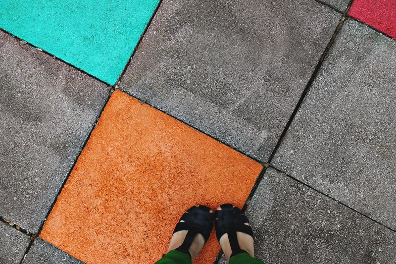 Elsie\'s Painted Patio Tiles - A Beautiful Mess