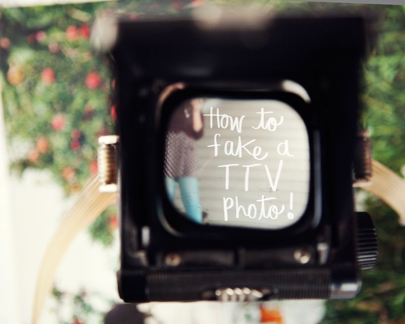 How to fake a ttv photo www.abeautifulmess.com