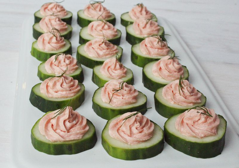 Easy appetizer salmon mousse a beautiful mess for Easy cold canape ideas