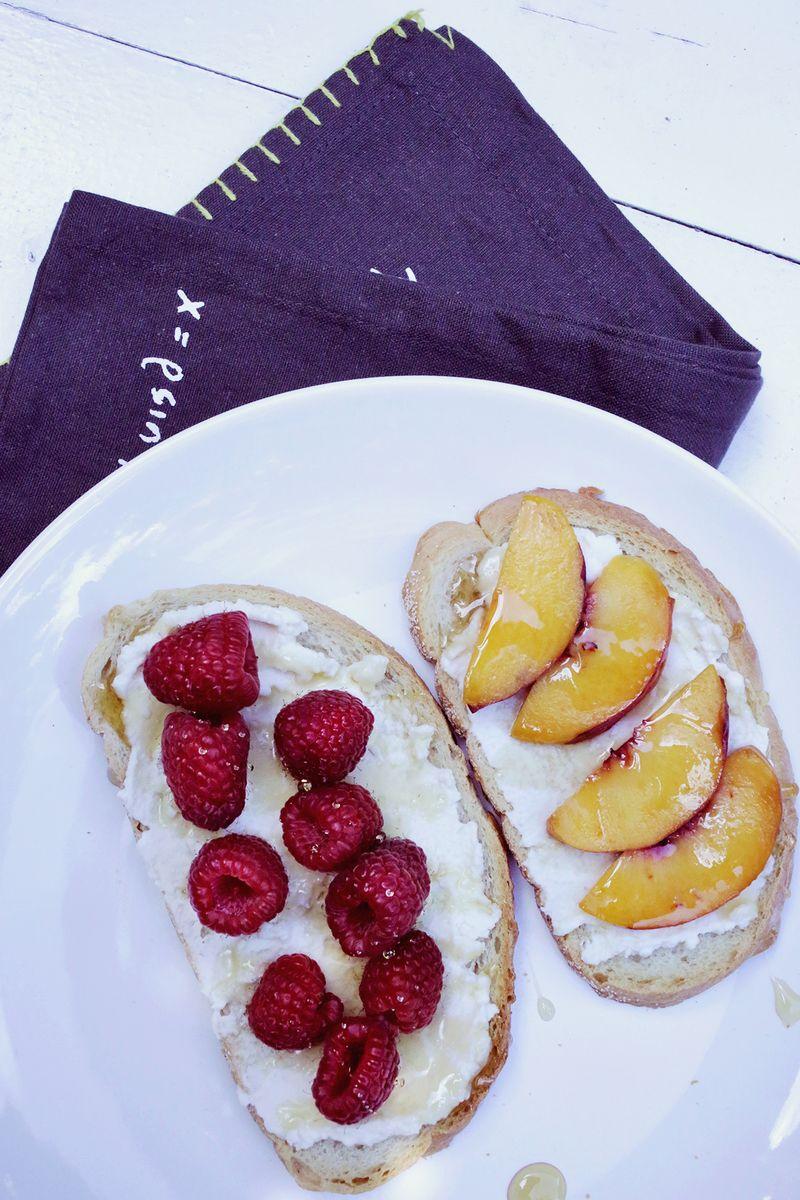 The most delicious ricotta toast! abeautifulmess.com