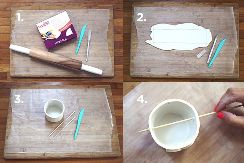 Make Your Own Mini Planter abeautifulmess.com