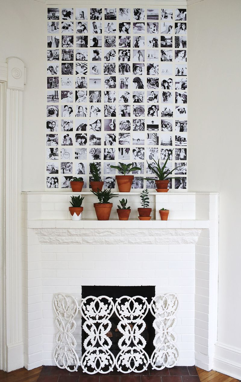 10 ideas for square photos a beautiful mess - Collage de fotos para pared ...