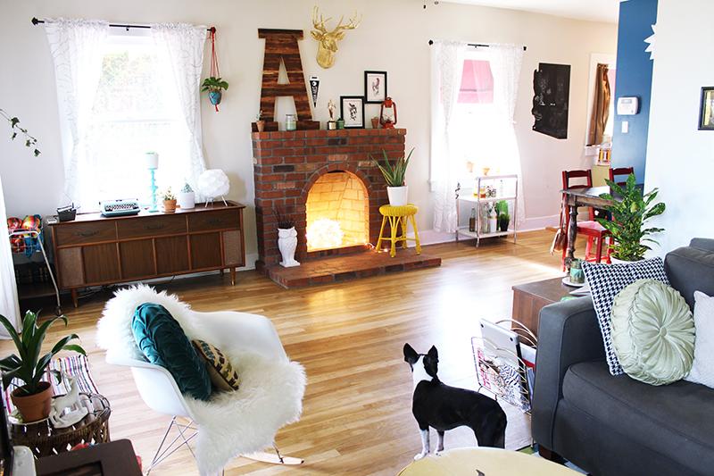 Adorável espaço - realmente em que lareira