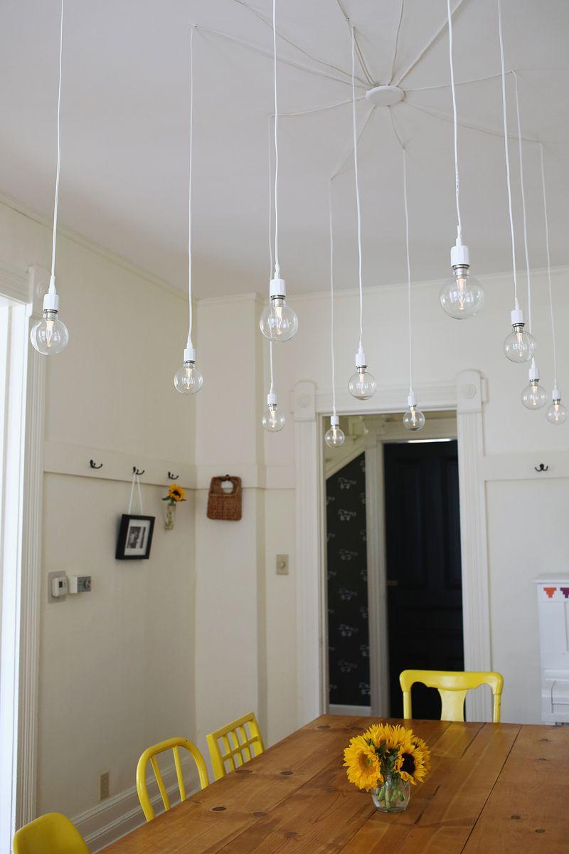 elsie's dream (diy) light fixture - a beautiful mess Diy Lighting