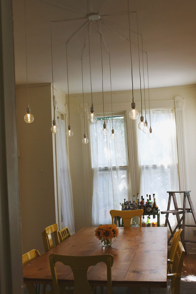 92 dining room lighting diy diy pendant light for Hanging light fixtures for dining room