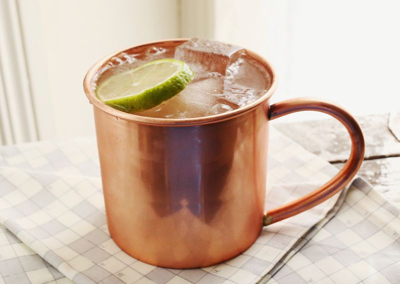 Try a classic Moscow Mule (click though for the full recipe!)