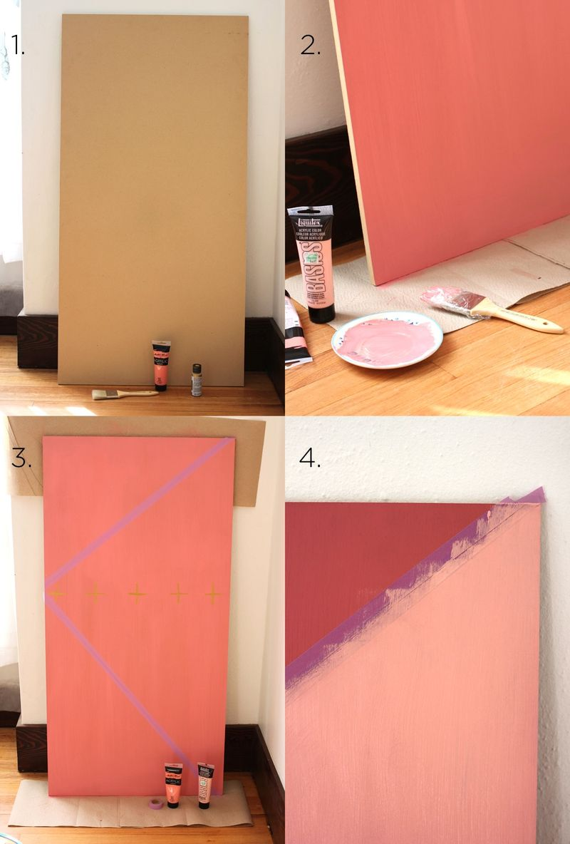 Try This : Color Block Mood Board (steps)