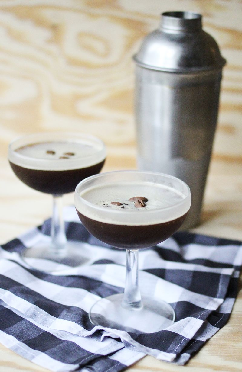 Homemade espresso martini (click through for recipe)