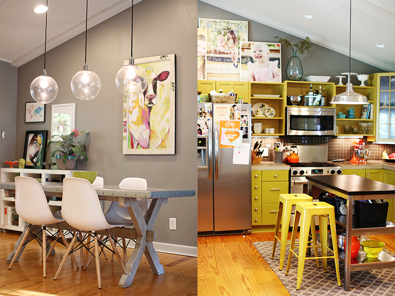 Fun dining and kitchen areas