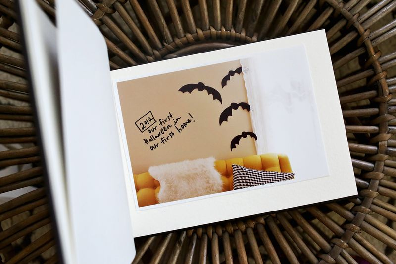 Halloween Memories mini book idea! Each year add a photo from the season!!