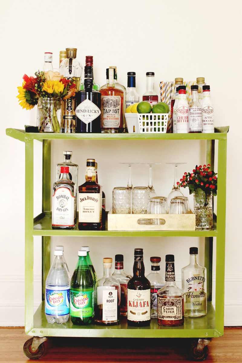 Elsie S Bar Cart Via A Beautiful Mess