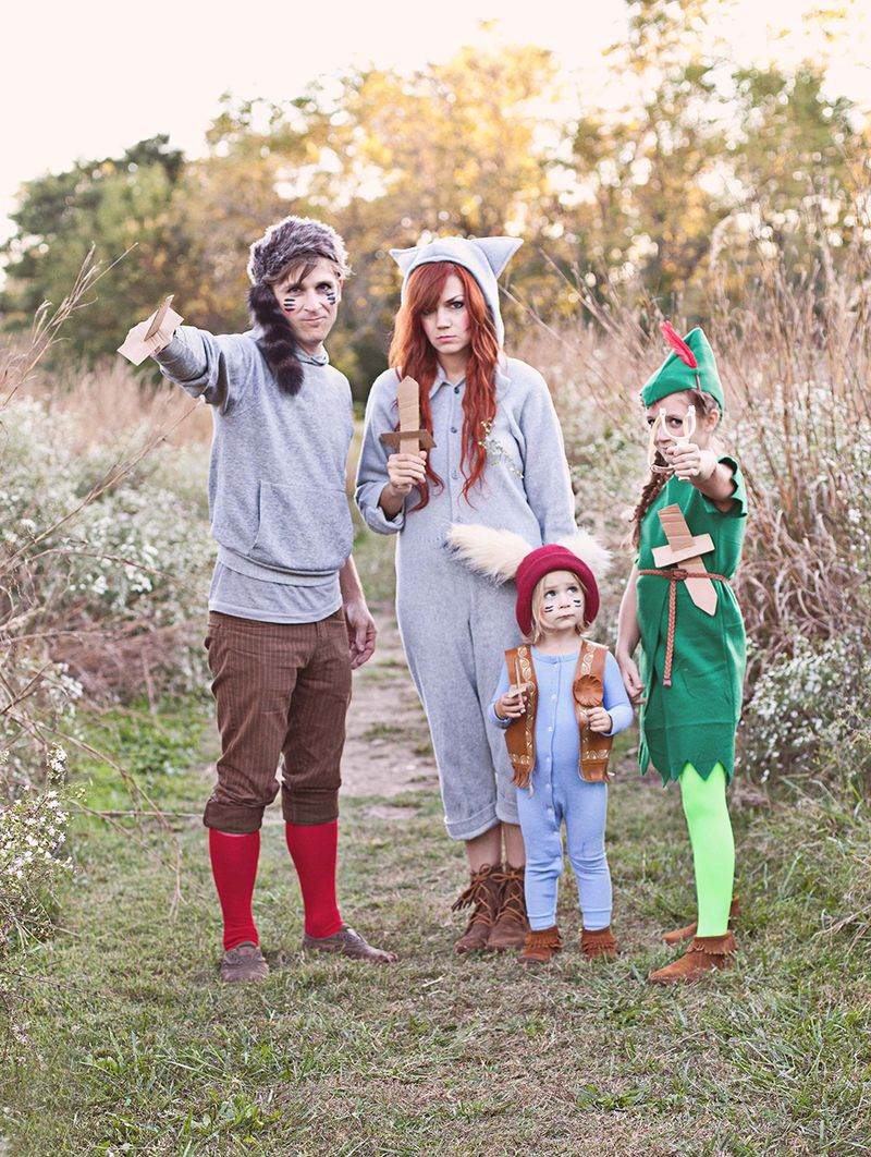 Peter Pan and the Lost Boys-- such a fun costume idea!