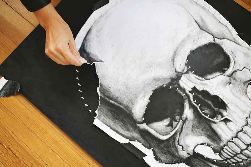 Make your own skull string art a beautiful mess step 2 prinsesfo Choice Image