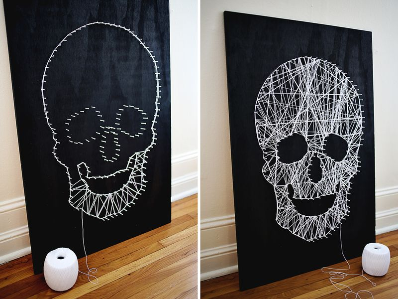 Make your own skull string art a beautiful mess step 3 prinsesfo Choice Image
