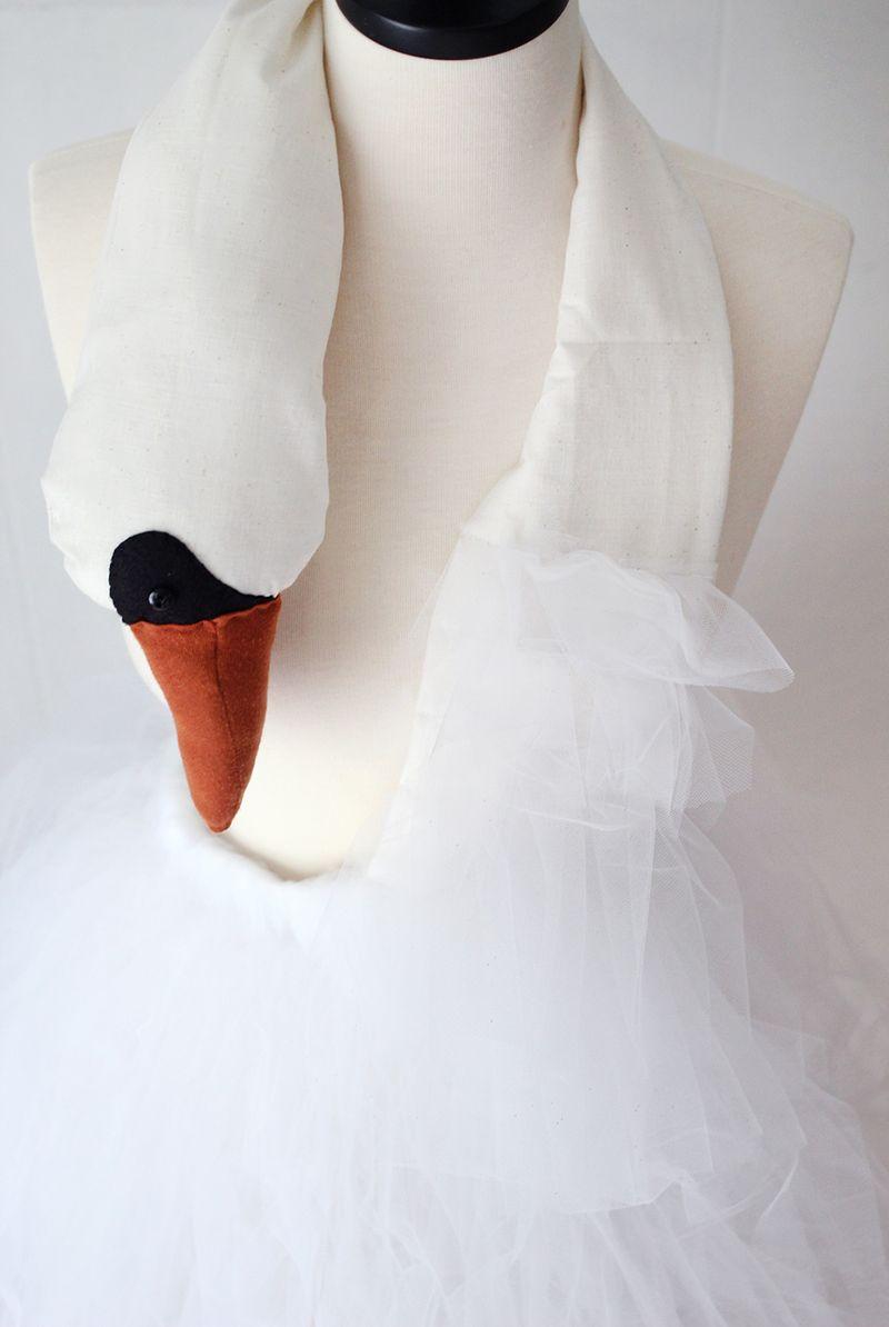 Beautiful Swan Dress details