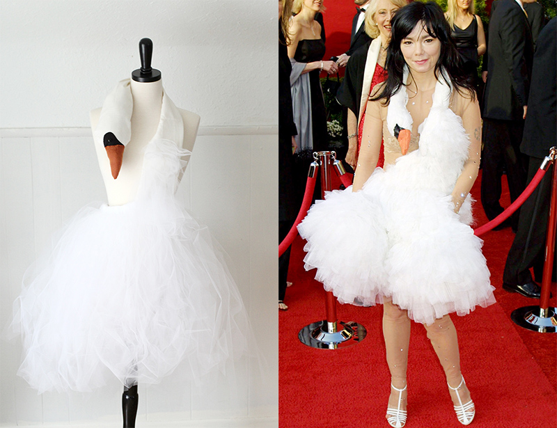 Bjork inspired swan dress tutorial!