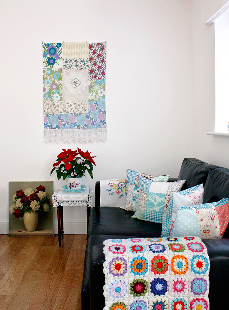 Love all the different patterns in this room