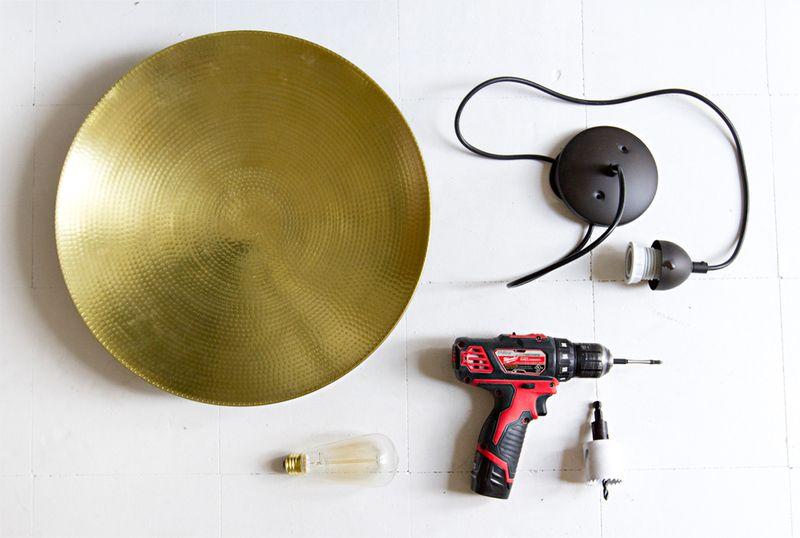 DIY pendant lamp:supplies