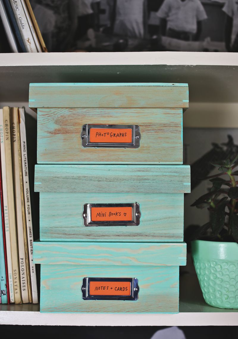 Stained Storage Boxes