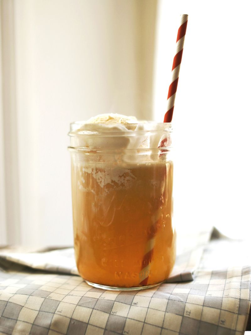 Spiked Apple Cider Float – A Beautiful Mess