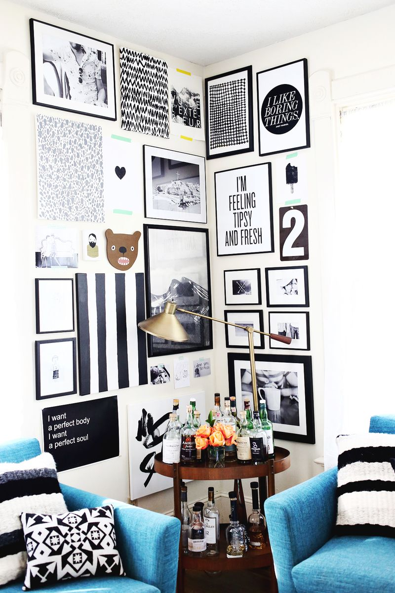 How To Style A Corner Gallery Wall A Beautiful Mess