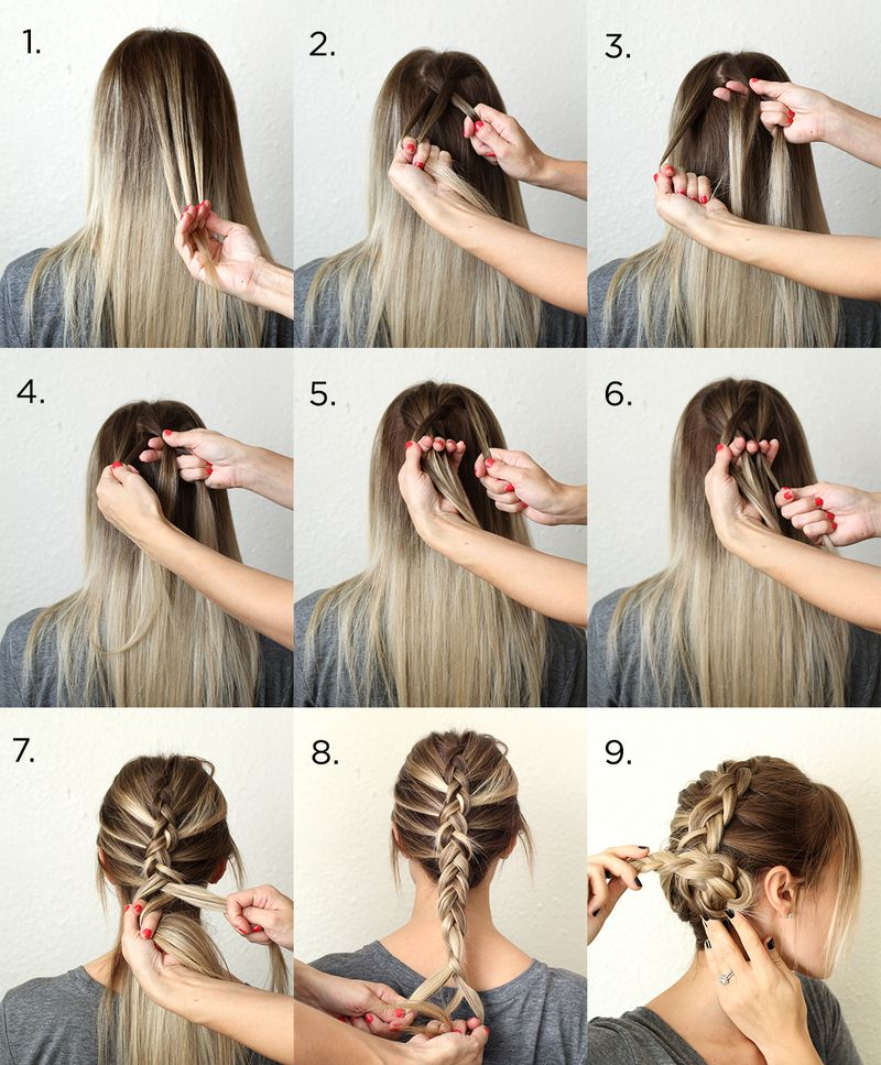 Easy Dutch Braid Steps