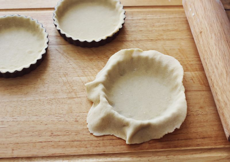 Rolling out tart crusts